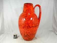 """Red & orange """" Lava """" glazed 70´s design Scheurich Keramik pottery vase 279 - 38"""