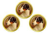 Tête Étude D'un Fox Terrier par Colin Graeme Chevreuil Marqueurs de Balles Golf