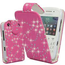 Bling Glitter Crystal Diamond Leather Flip Case cover for For Blackberry Phones