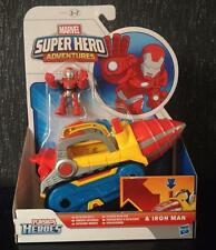 New Iron Man Toy Spinning Repulsor Drill Vehicle Car + Figure Marvel Playskool