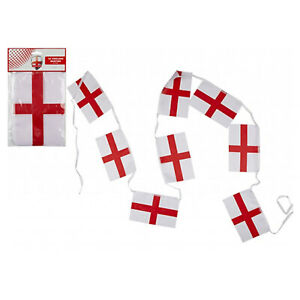 """12"""" Rainbow Or St Georges Flag Bunting Party Celebration Banner Festival Event"""