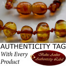 Honey BALTIC AMBER Baby Child NECKLACE AGbA® Certified