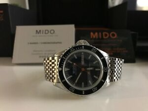 mido ocean star tribute automatic Swiss watch, (blue dial)
