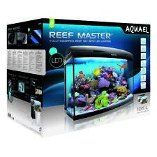 AQUAEL Reef Master LED 105Liter Exklusives Meerwasseraquarium graphitgrau