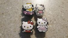 Lot of 4 Hello Kitty shoe charms for Crocs shoes. Other uses Craft, Scrapbook