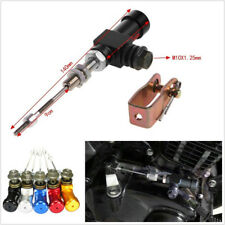 Black Metal M10x1.25mm Motorbike Hydraulic Clutch Master Cylinder Rod Brake Pump