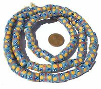 Ghana African Matched Turquoise Blue Banded Recycled glass trade beads
