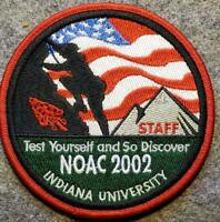 2002 NOAC STAFF Pocket Patch - Test Yourself and So Discover - BSA/OA