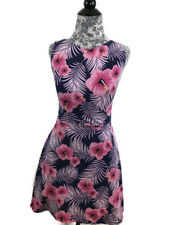 f767ff9691 PINK Victorias Secret Dress Womens Size M Purple Pink Hibiscus Floral  Sleeveless