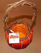 Harvest Halloween Wooden Weave Basket Panier Cesta Celebrate It Orange Burla 66T