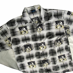 Vintage 80s Veterano Shirt Button Down XL Gang Member Old School Pachuco Print