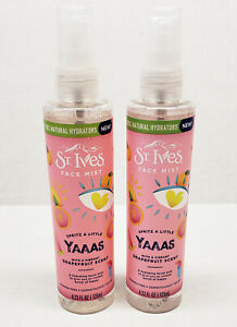 Lot of 2 St Ives Yaaas Grapefruit Scent Hydrating Face Mist 4.23 fl oz facial