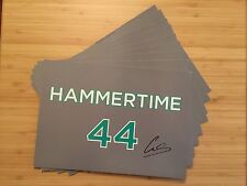 LEWIS HAMILTON F1 WORLD CHAMPION SIGNED AUTOGRAPH HAMMERTIME 44 GRAND PRIX CARD