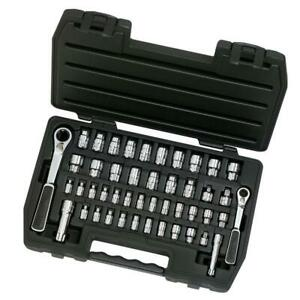 """1//4/"""" /& 3//8/"""" Drive Pass-Thru 1//4 Inch 13 Millimeter GEARWRENCH 39 Pc Black"""