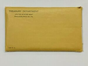 1957 US Silver Proof 5 Coin Set in original plastic  - w/ mint envelope  (57A)