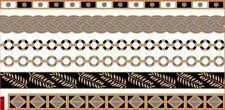 Temporary Flash Einmal Tattoo Classic gold silber 6-teilig Armband Kette NEU WOW