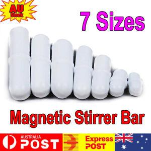 7PCS Magnetic Stirrer Bar Mixer TYPE PTFE Cover Stir Bar Stirred Solution Use AU