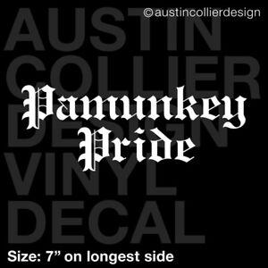 "7"" PAMUNKEY PRIDE Vinyl Decal Car Truck Window Sticker - Native American Tribe"