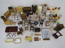 Vintage to Modern Dollhouse Miniature Wood Wooden Furniture Chairs Food Lot A