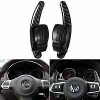 Vehicle Steering wheel paddle Carbon Fiber Sticker For VW golf6 gti R MK6 08-12