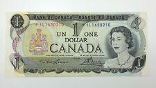 1973 Canada 1 One Dollar Prefix IL Canadian Bill Circulated Banknote E306