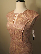NWT DECODE 1.8 Lace Dress Blush Pink Satin Trim Satin lining - 2