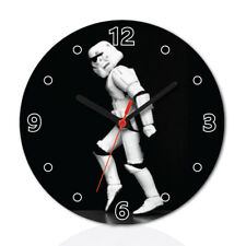 Star Wars Stormtrooper Wood Clock Home Office Room Decor Gift Round