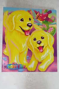 Lisa Frank 3 Ring Binder My Memory Book Dogs Casey and Caymus