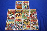 Avengers Lot of 10 Comics #201,202-211 Bronze Age Ultron Key  Complete Run