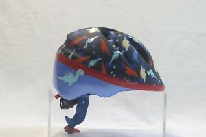 SCHWINN Youth Cycling Helmet Blue with Dinosaurs, Adjustable for Ages 0-3 yrs