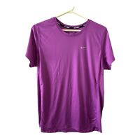 Nike Running Shirt Size XL Purple Womens Dri Fit Short Sleeve