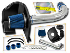 BCP BLUE 14-19 Silverado Sierra 1500 V8 Heat Shield Cold Air Intake + Filter