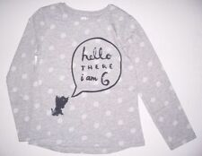 Long Sleeve Crew Neck Spotted 100% Cotton Girls' T-Shirts & Tops (2-16 Years)