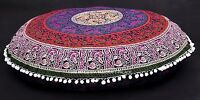LARGE MANDALA TAPESTRY FLOOR PILLOW CUSHION OTTOMAN SEATING COVER Indian Decor