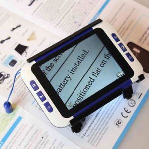 Portable Low Vision Aids Electronic Magnifying Glass Elderly Digital Magnifer