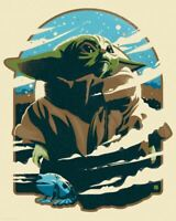 Star Wars The Mandalorian The Child Yoda Bounty Danny Haas Poster Print SIGNED