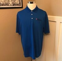 NEW Nike Golf Dri Fit Polo Shirt Men's XL Blue St Rose Dominican Embrodiery