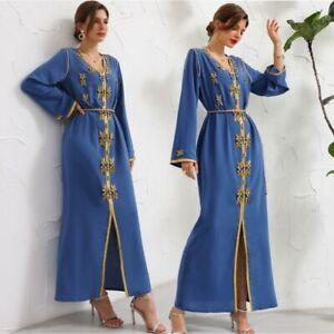 Premium Luxury Rhinestone Abaya Party Maxi Dress Dubai Muslim Women Robe Kaftan