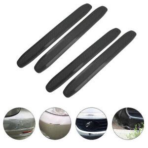 4Pcs Car Body Bumper Corner Cover Rubber Strips Anti-scratch Protector Guard
