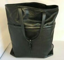 Smythson Handbag Black Leather Soft Tote Shoulder Bag Smart Everyday Work 281751