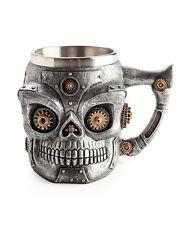 Steampunk Skull Mug Coffee Tea Metal Death Gothic Drink Cup