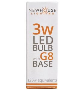 NEWHOUSE~ Halogen Replacement 3W LED Bulb 25W Equivalent G8 Base G8-3025 WA13