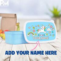 Childrens Kids Unicorn Lunch box Bags Bag Picnic School Lunchbox Personalised