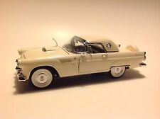 DANBURY MINT white FORD THUNDERBIRD Coupe Convertible 1:24 Diecast TOY CAR