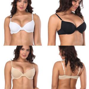 Womens Plus Size PUSH UP Bra Underwire Underwear T-Shirt Bra 30-46 AB C D DD EFG