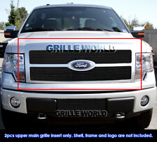 For 2009-2011 Ford F-150 Platinum Black Billet Grille Grill Insert