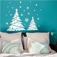 Christmas Tree Snowflakes Vinyl Wall Stickers, Wall Decals, Wall Arts