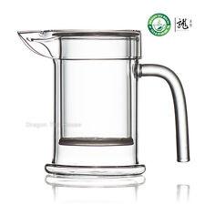 Cancella teiera di vetro con coperchio e infusore tazza di tè 230ml 7.8 oz