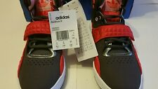 Adidas Originals Femme Roundhouse Hi-Tops Gris/Rouge/Marron Rouge-UK5 Euro 38