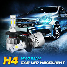 2pcs H4/HB2/9003 200W COB Hi-Lo Beam LED Headlights Bulbs 6500K Kits HID Xenon